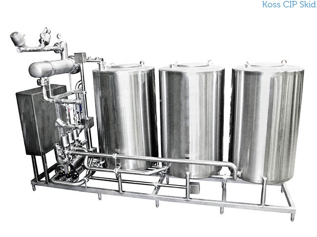 Koss CIP clean in place Skid system